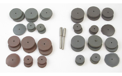 Cratex Small Wheel and Mandrel Kit No. 707 (44 wheels & 2 mandrels)
